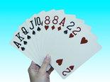 speelkaarten met extra groot logo