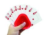 driehoekige kaartenhouder voor het gemakkelijk vasthouden van uw speelkaarten
