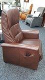 Sta-opstoel gebruikt bruin leer_