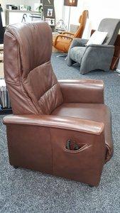 Sta-opstoel gebruikt bruin leer